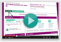 Making Strides Dashboard video