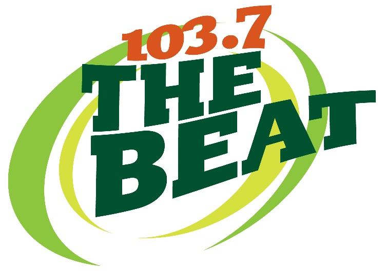 Color logo for 103.7 the beat
